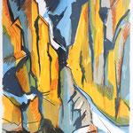 BERG-Einschnitt (Vorab-West) Litho vom Stein, Auflage 10 Ex./ 2003