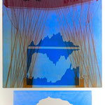 Fliegen-üb.Grate,Gipfel,Horizonte, Aquatinta, mehrfarbig, 3 EA.Ex./ 1993