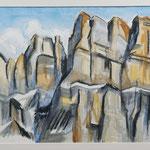 Hintere Schiben am Bifertenstock / Aquarell & Kreide / 2008