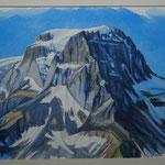 Tödi vom Beggistock - Aquarell / 40x52 cm - R. 55x70 cm / 2017