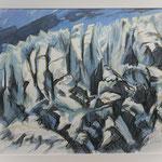 Bifertengletscher I (Vorstudie) Aquarell / 2010
