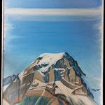 Der grosse Tödi trägt einen weiten Himmel / Acryl auf LW / 100x80 cm / 2012