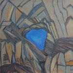 Martinsloch-am Abend-Acryl auf BW-100x115 cm-1992-2012
