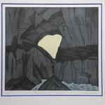 Martinsloch-Morgenlicht- Farbradierung-10 Ex. 1993