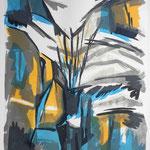 BERG-Absturz (Clariden-Nord) Litho vom Stein, Auflage 10 Ex./ 2003