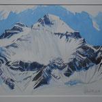 Hausstock im Winter - Aquarell 31x45 cm / PP. 50x60 cm - 2016