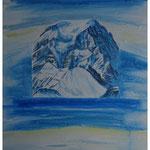 Winterlicht Tödi NW / Acryl & Spachtel auf LW - 80x60 cm / 2016 / Privatbesitz