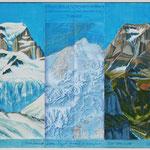 Nacheiszeit am Tödi 5000v.-2100n.Chr.(m.Würm-Eiszeit-Karte) 60x80 cm / 2011 / Privatbesitz
