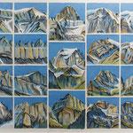 Glarner Bergportraits ( 19 Gipfel) Aquarell / 2012 / PB / Privatbesitz