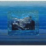 Glärnisch-Ruchen-im Urmeer geboren / Acryl & Druckgrafik auf LW / 80x120 cm / 2014