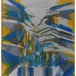 Bergsommertag / Acryl & Lithofragment auf LW / 100x80 cm / 2010
