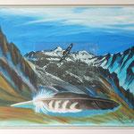 Adlerflug Freiberg I / Acryl & Radierung auf LW / 45x55 cm / 2012