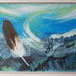 Adlerflug Tschingelhoren / Acryl & Radierung auf LW / 45x55 cm / 2012