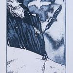 Begegnung am Tödi / Fotoradierung blauschwarz, Auflage 10 Ex. / 1994