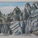 Geologie Mittlere Tschingelhoren-Aquarell 31,5x44 cm-PP.48x60-2014