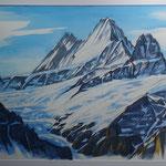 Schreckhorn v. Schreckfeld - Aquarell / 50x73 cm - R. 70x90 cm / 2017