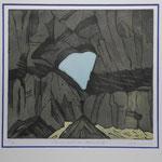 Martinsloch-Abendlicht -Farbradierung- 10 Ex. 1993