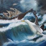"""Albatross"" Öl auf Leinwand - © Copyright by Eddie"