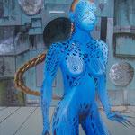 """""""Deep Blue Mystique"""" Acryl auf Leinwand - © Copyright by Eddie"""