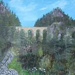 """Viadukt"" Öl auf Leinwand - © Copyright by Eddie"