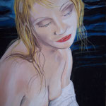 """Tears in the Rain"" Pastell auf Sandpapier - © Copyright by Eddie"