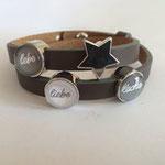 Mottoarmband, liebe, lebe, lache. Dieses Armband ist auch individualisierbar mit Ihrem Lebensmotto!