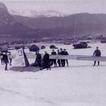 """Die """"Cöthen"""" mit der FLUWIAC unter Reichardt beim Zugspitz-Rundflug 1925"""