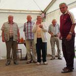 Auszeichnung der langjährigen Mitglieder sowie ältestes Mitglied im Verein