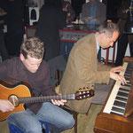mit Reinhard Bahr im Tügelbahnhof