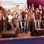 Gruppenbild der Preisträger vom deutschen Rock & Pop Preis 2011