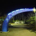 宮沢賢治モニュメント、銀河鉄道の夜、SL銀河、新花巻駅、LED、LEDネオン