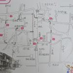 日吉大社周辺桜マップです。