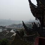 Sicht von Ziqikou auf den Fluss