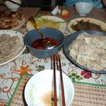 So sehen die fertigen Jiaozi aus. Und schmecken himmlisch!
