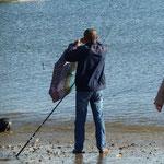 der dicke Fisch am Haken: Ein Regenschirm