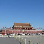 Der Tiananmen bei frostigem Winterwetter