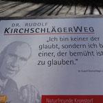 Nach dem ehemaligen Bundespräsidenten - der aus Kronstorf stammt - ist ein Wanderweg benannt
