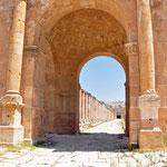 Een van de toegangspoorten tot de Cardo Maximus