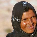 zomaar een verkoopster in Petra, 'smile of hope'