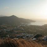 Amorgos: avond die valt over de baai