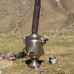 Samovar - hierin wordt thee of koffie gezet