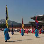 Wisseling van de wacht in Gyeongbukgung Palace