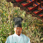 Confucianistische priester in Dosan Seowon Confucian Academy