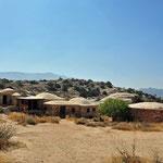 De keuken, eetplaats en sanitaire voorzieningen in het park