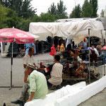 Markt in de hoofdstad Tashkent