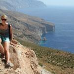 Amorgos: fraaie kustlijn en fraaie deerne
