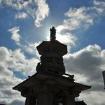 Stupa op de binnenkoer