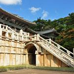 Zij-ingang  van Bulguksa tempel in Gyeongju