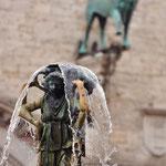 Fontein in Perugia op het Plazzo del Populo