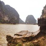 Tam Coc of ook wel Halong Bay maar op het land
